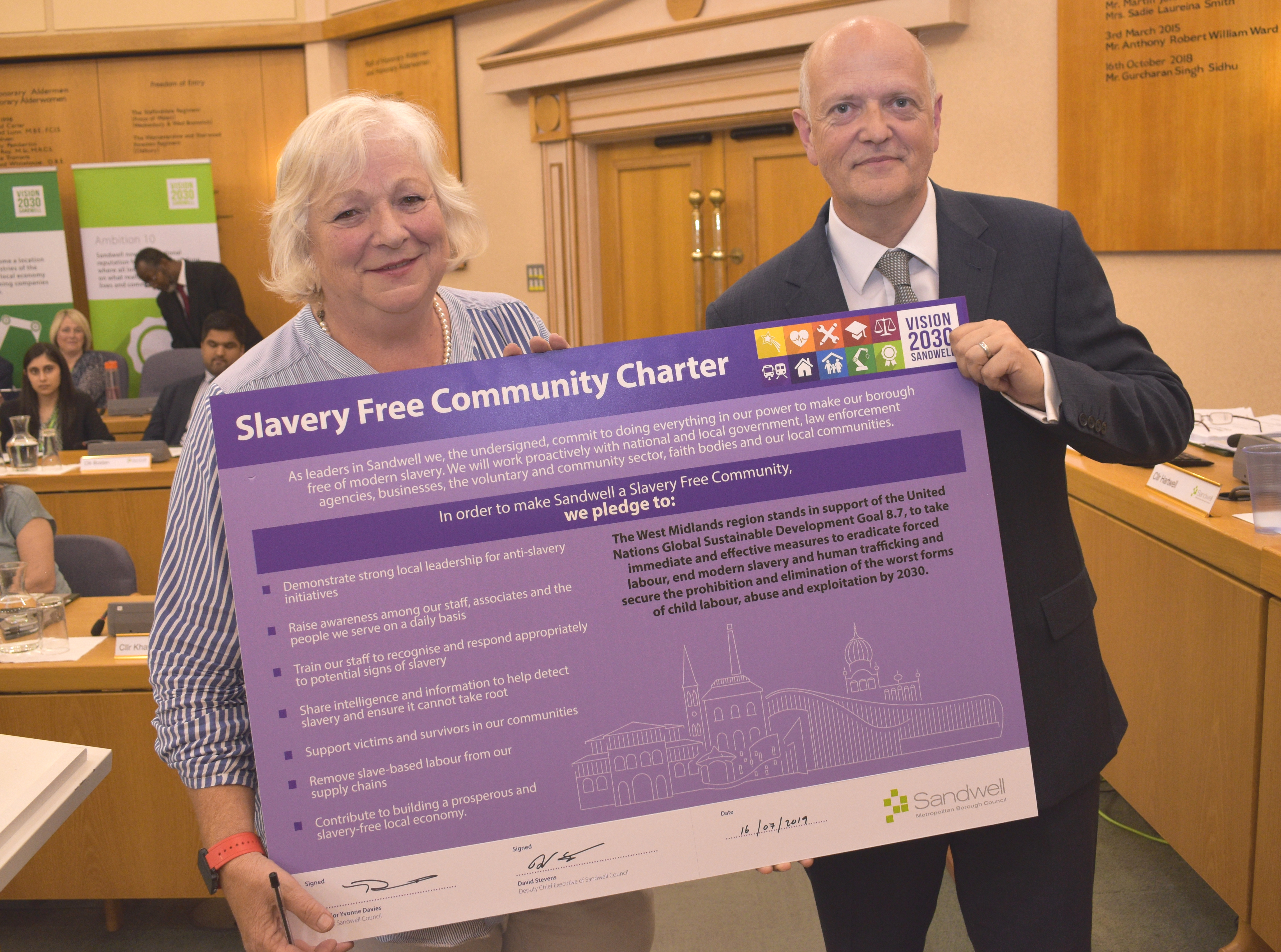 Charter signed to make Sandwell slavery free Image