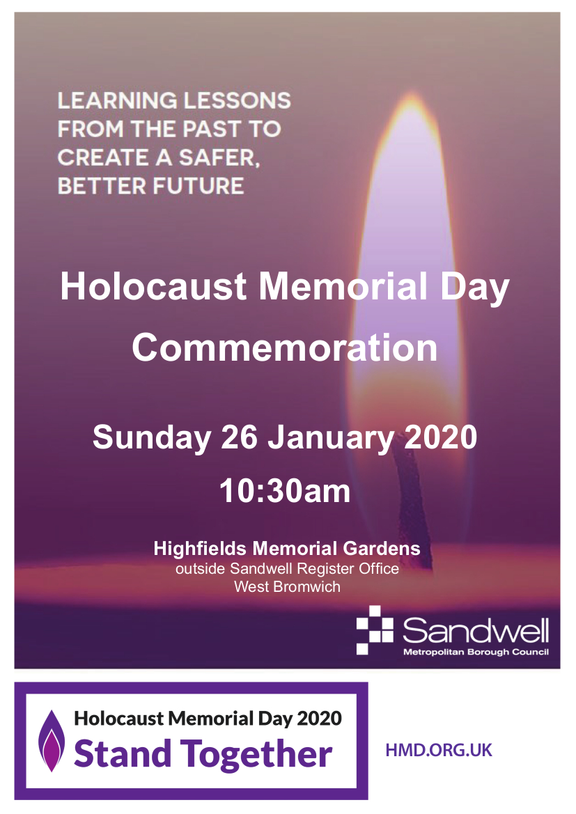 Mayor remembers murdered grandfather and all victims of genocide at Holocaust Memorial event Image