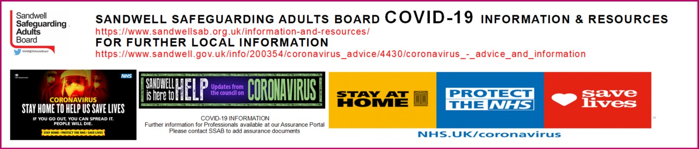 Sandwell Safeguarding Adults COVID 19 info